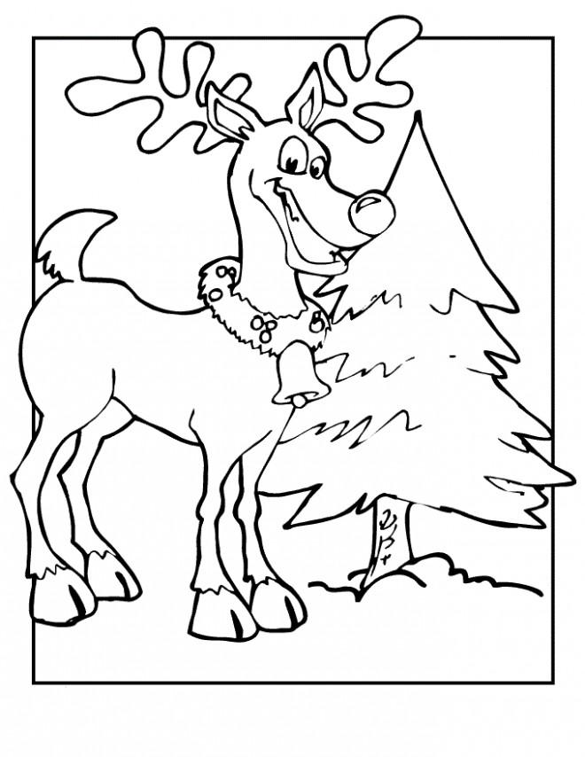 Coloriage renne du p re no l dessin gratuit imprimer - Dessin renne du pere noel ...