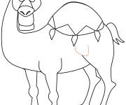 Coloriage Beau dessin de chameau