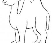 Coloriage dessin  Chameau 19