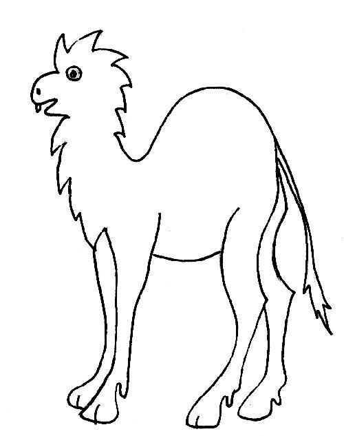 Coloriage et dessins gratuits Chameau bizarre à imprimer
