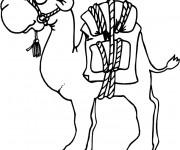 Coloriage et dessins gratuit Chameau cartoon à imprimer