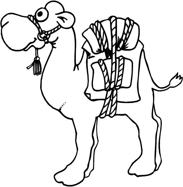 Coloriage et dessins gratuits Chameau cartoon à imprimer