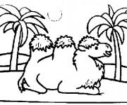 Coloriage et dessins gratuit Chameau en se reposant à imprimer