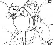 Coloriage Chameau en voyage