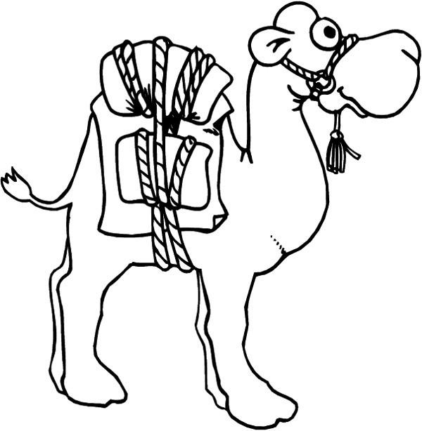 Coloriage chameau et bagage dessin gratuit imprimer - Dessiner un chameau ...