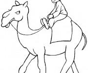 Coloriage et dessins gratuit Chameau et enfant à imprimer