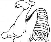 Coloriage et dessins gratuit Chameau et tapis à imprimer