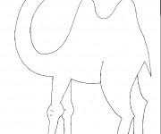 Coloriage et dessins gratuit Chameau facile pour coloriage à imprimer