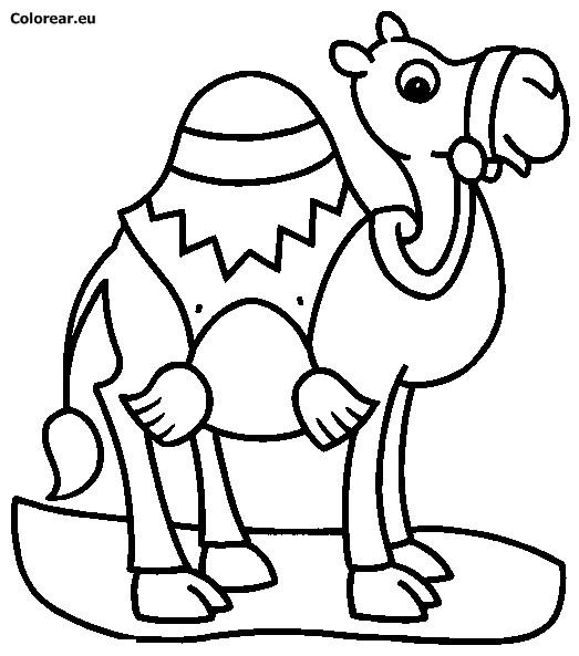 Coloriage et dessins gratuits Chameau magique à imprimer