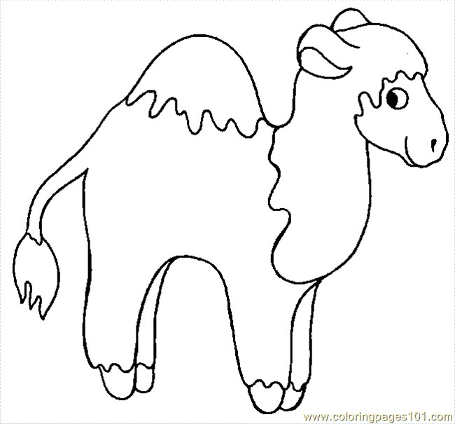 Coloriage et dessins gratuits Chameau peluche à imprimer