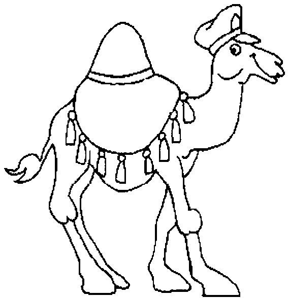 Coloriage et dessins gratuits Chameau portant un chapeau à imprimer