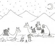 Coloriage Chameaux dessin animé