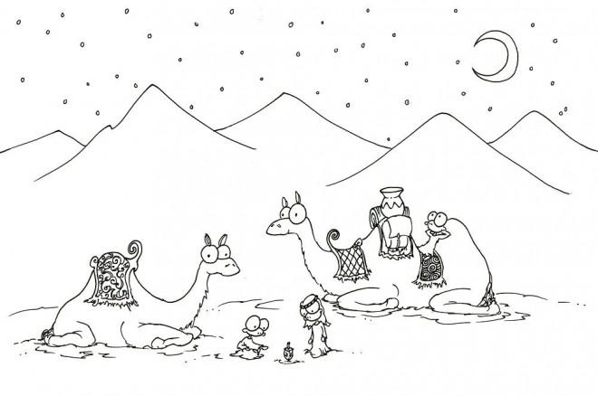 Coloriage chameaux dessin anim dessin gratuit imprimer - Dessiner un chameau ...