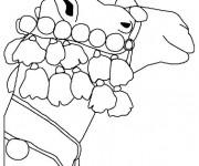 Coloriage Décoration de tête de Chameau
