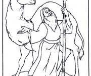 Coloriage Le Chameau et le sage