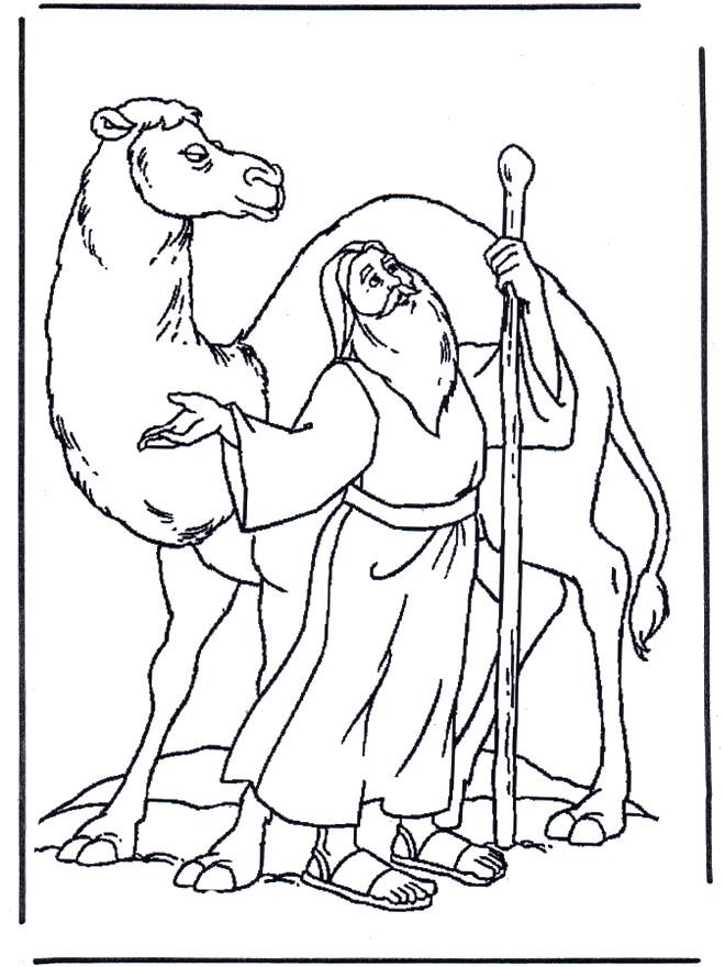 Coloriage le chameau et le sage dessin gratuit imprimer - Dessiner un chameau ...