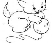 Coloriage et dessins gratuit Bébé Chat à imprimer