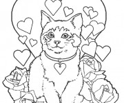 Coloriage dessin  Chat 1