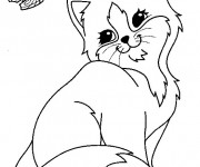 Coloriage dessin  Chat 2