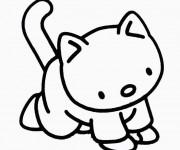 Coloriage Chat dessin animé