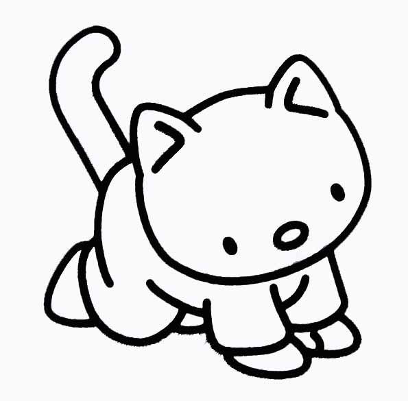 Coloriage et dessins gratuits Chat dessin animé à imprimer
