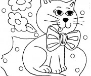 Coloriage Chat dessin couleur