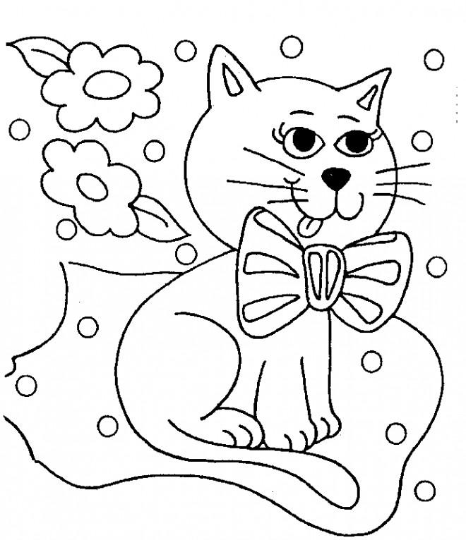 Coloriage et dessins gratuits Chat dessin couleur à imprimer