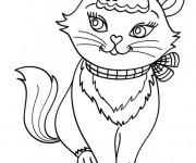 Coloriage et dessins gratuit Chat mignonne à imprimer