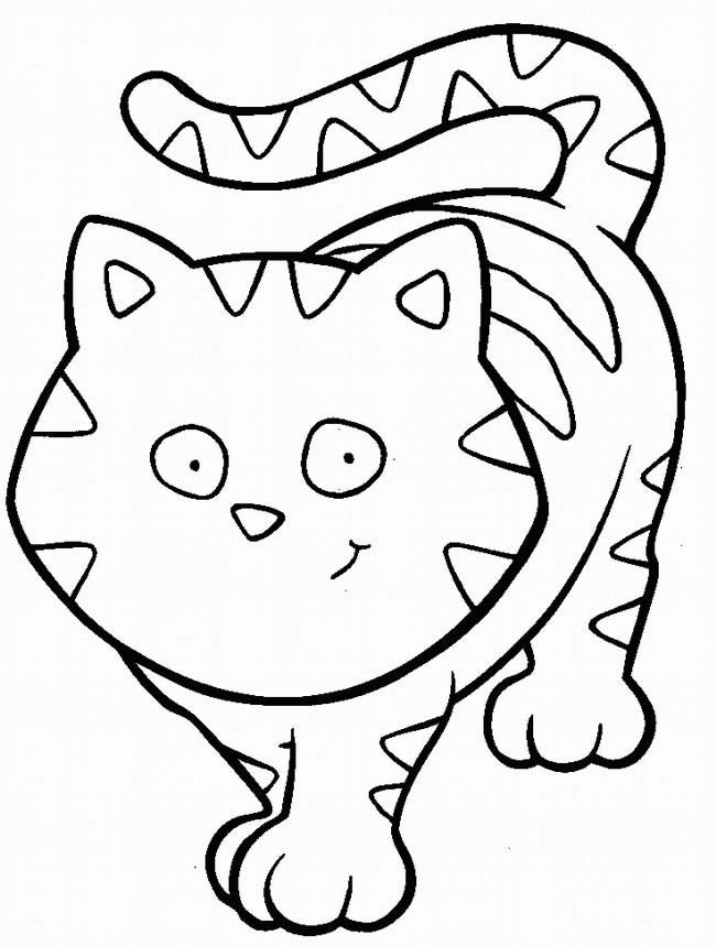 Coloriage et dessins gratuits Chat rigolo à imprimer