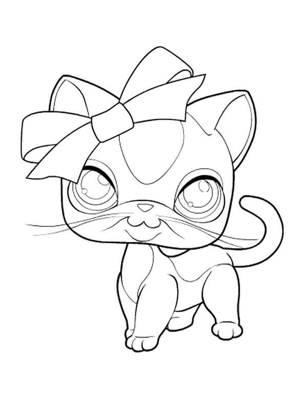 coloriage chatte avec les yeux brillants dessin gratuit  u00e0