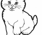 Coloriage et dessins gratuit Chatte trop mignonne à imprimer