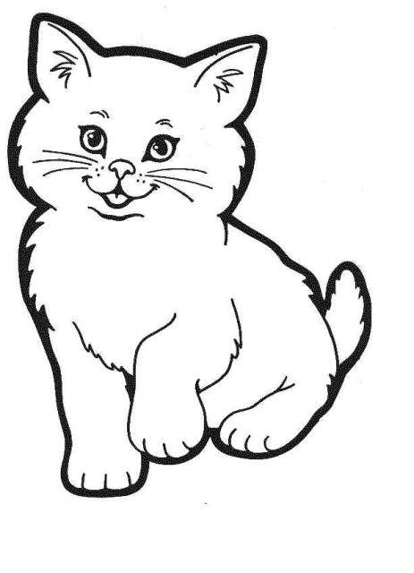 Coloriage et dessins gratuits Chatte trop mignonne à imprimer
