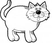 Coloriage Dessin de gros chat