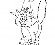 Coloriage Un chat sorcier