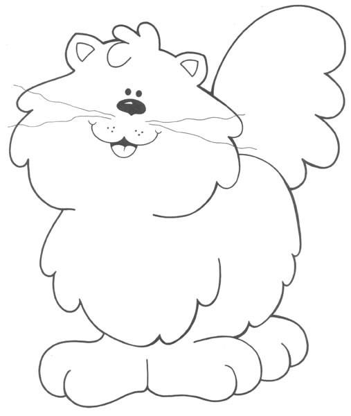Coloriage et dessins gratuits Un gros chat à imprimer