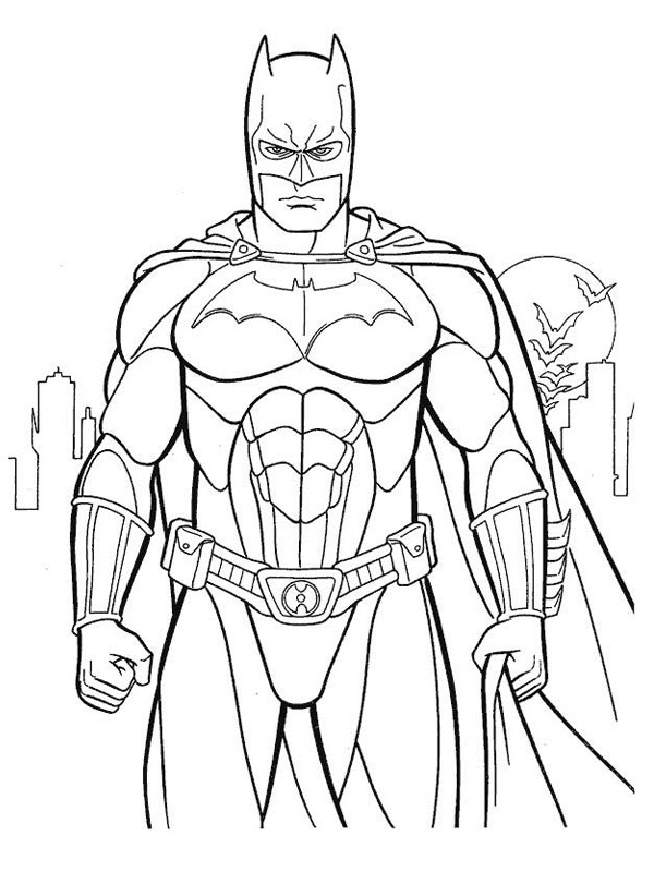 Coloriage Batman Dessin Gratuit A Imprimer