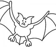 Coloriage dessin  Chauve-souris 1