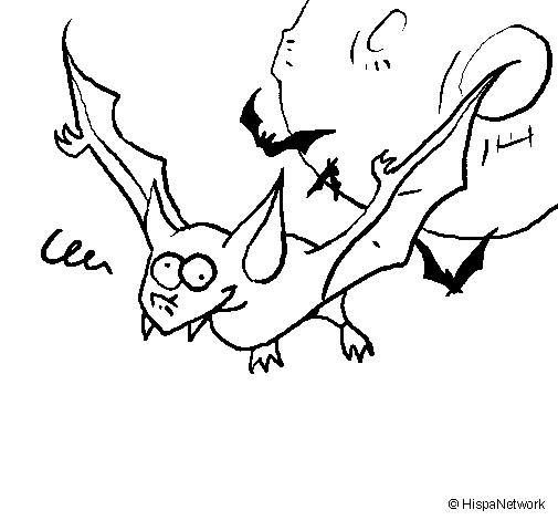 Coloriage et dessins gratuits Chauve-souris 25 à imprimer