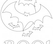 Coloriage dessin  Chauve-souris 3