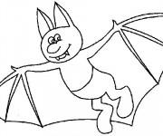 Coloriage et dessins gratuit Chauve-souris avec des pieds à imprimer