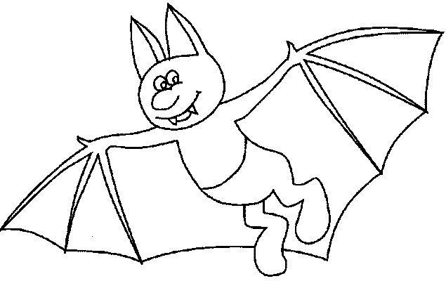 Coloriage et dessins gratuits Chauve-souris avec des pieds à imprimer