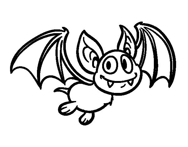 Coloriage et dessins gratuits Chauve-souris avec ses grands oreilles à imprimer