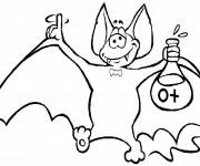 Coloriage Chauve-souris chimiste
