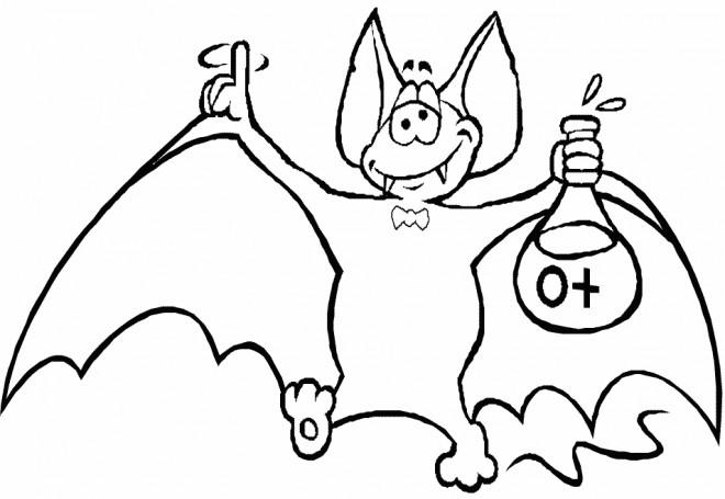Coloriage et dessins gratuits Chauve-souris chimiste à imprimer