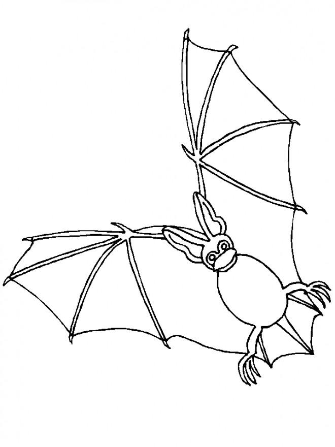 Coloriage et dessins gratuits Chauve-souris dans l'air à imprimer