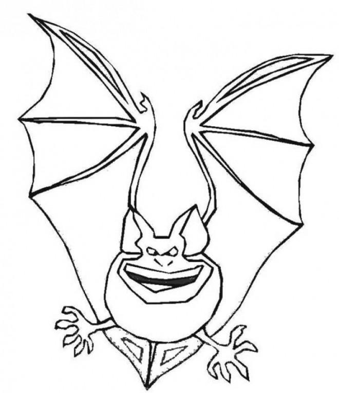 Coloriage et dessins gratuits Chauve-souris effrayant à imprimer