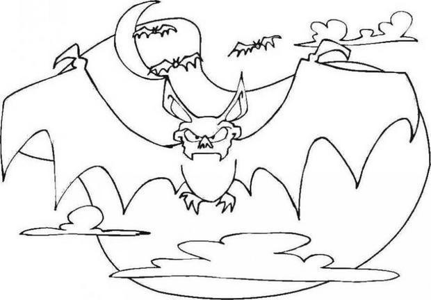 Coloriage chauve souris en col re dessin gratuit imprimer - Dessin halloween chauve souris ...