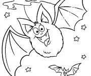 Coloriage et dessins gratuit Chauve-souris en volant à imprimer