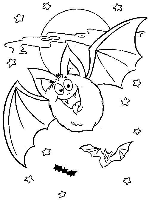 Coloriage et dessins gratuits Chauve-souris en volant à imprimer