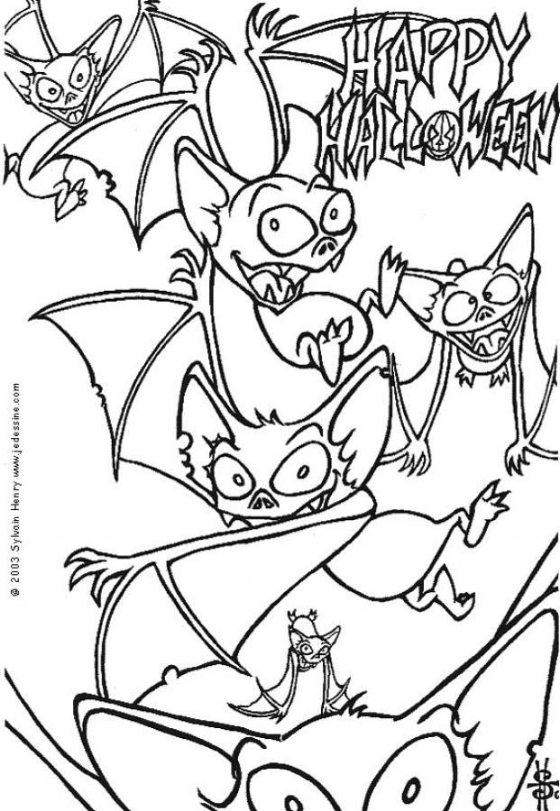 Coloriage et dessins gratuits Chauve-souris et le Halloween à imprimer
